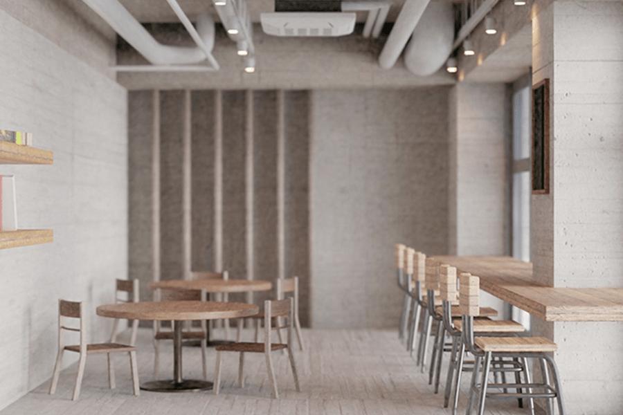 カフェやファミリーレストランのビフォー写真